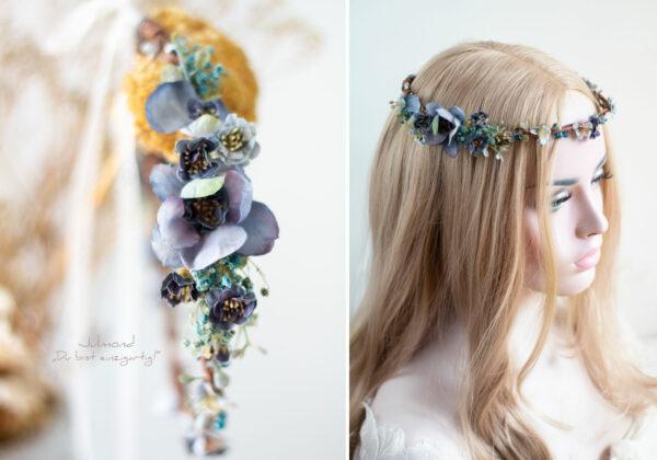 Teona Haarkranz Blumen Blau-02