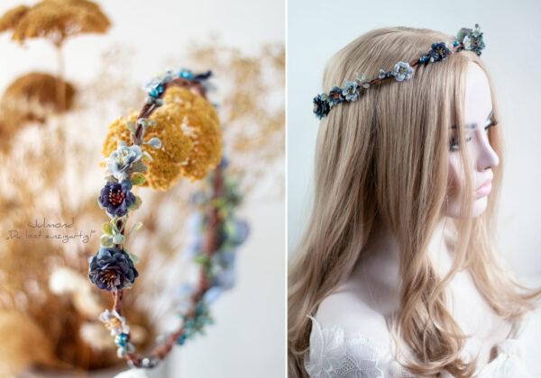 Teona Haarkranz Blumen Blau-03