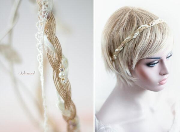 Verona Haarband Braut Perlen Boho Haarschmuck-03