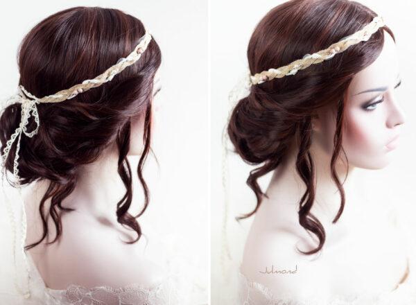 Verona Haarband Braut Perlen Boho Haarschmuck-04