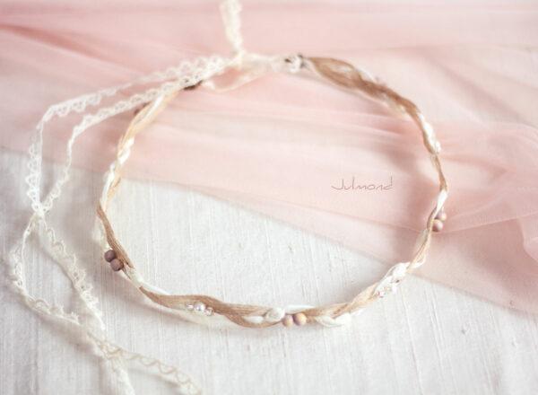 Verona Haarband Braut Perlen Boho Haarschmuck-07