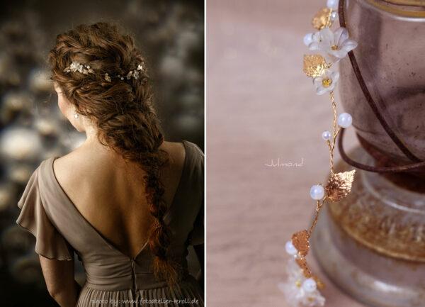 Vesha Haarband Hochzeit Gold Haarschmuck Diadem-01