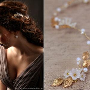 Vesha Haarband Hochzeit Gold Haarschmuck Diadem-02