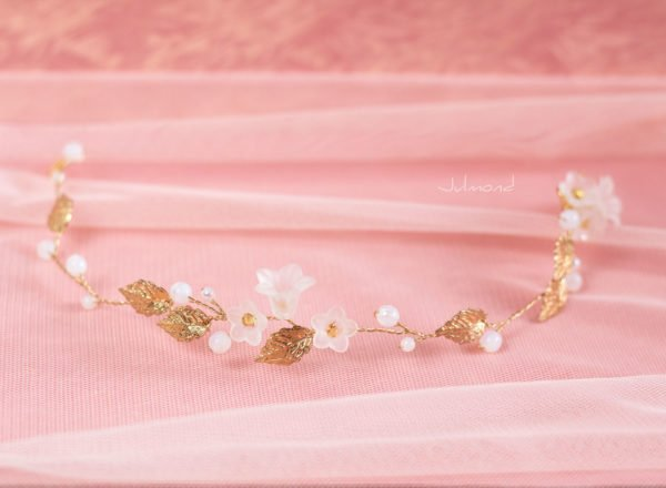 Vesha Haarband Hochzeit Gold Haarschmuck Diadem-03