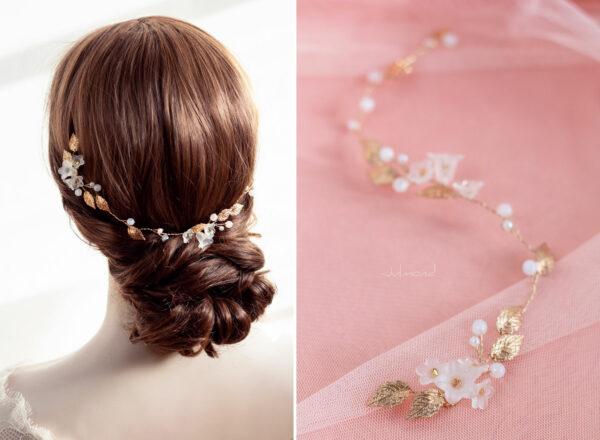 Vesha Haarband Hochzeit Gold Haarschmuck Diadem-05