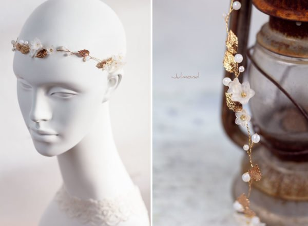 Vesha Haarband Hochzeit Gold Haarschmuck Diadem-06