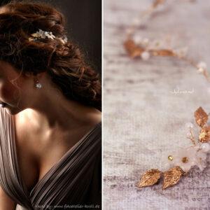 Vesha Haarband Hochzeit Gold Haarschmuck Diadem-11
