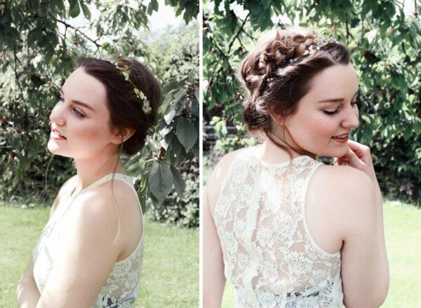 Vesha Haarband Hochzeit Gold Haarschmuck Diadem-12