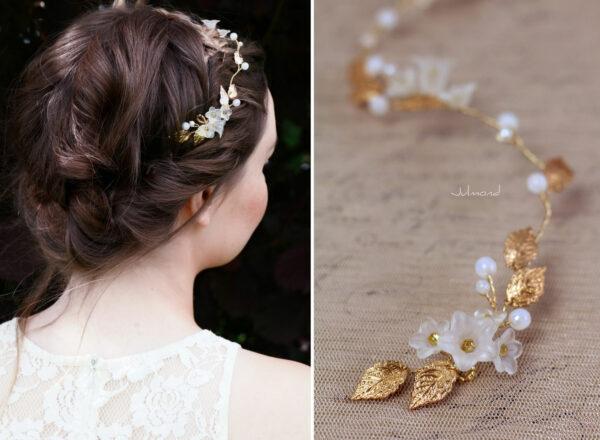Vesha Haarband Hochzeit Gold Haarschmuck Diadem-13
