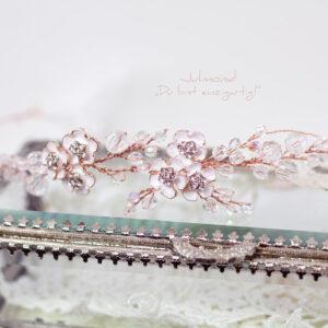 Victoria Diadem Hochzeit Rosegold-21
