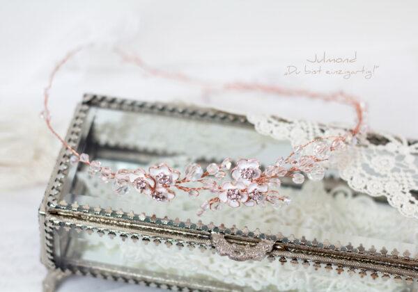 Victoria Diadem Hochzeit Rosegold-22