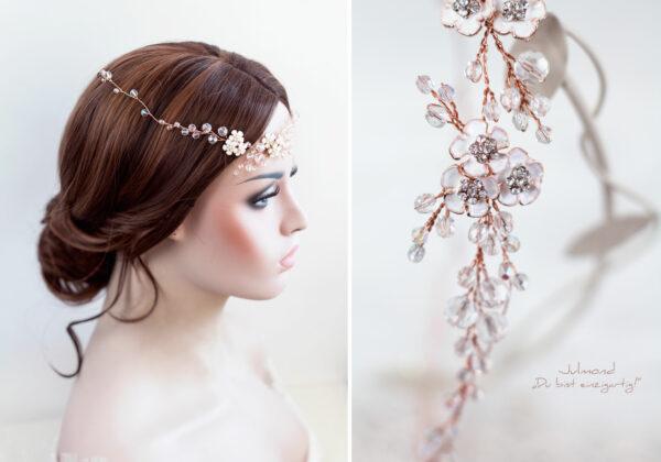 Victoria Diadem Hochzeit Rosegold-23