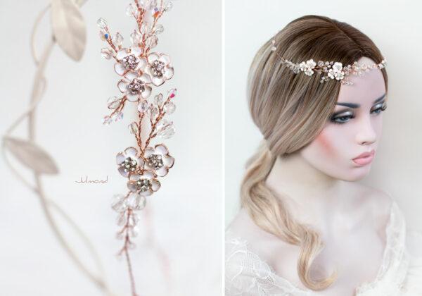 Victoria Diadem Hochzeit Rosegold-24