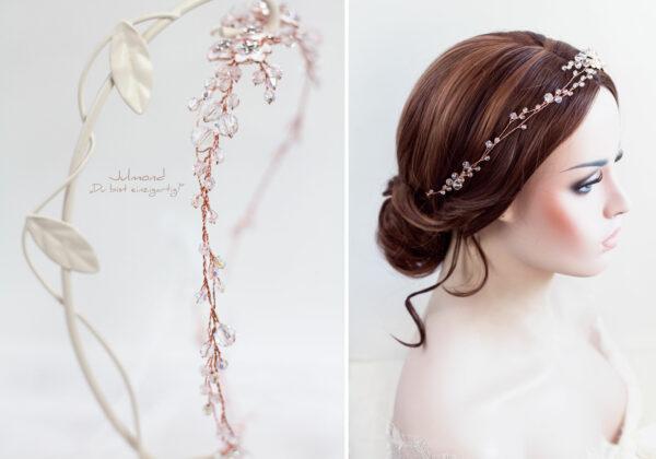 Victoria Diadem Hochzeit Rosegold-25