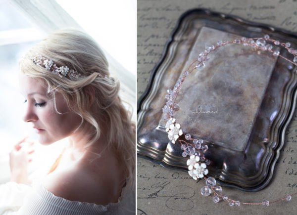 Victoria Diadem Tiara Hochzeit Perlen Rosegold-12