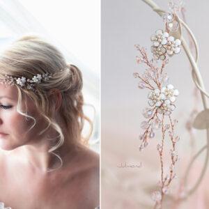 Victoria Diadem Tiara Hochzeit Perlen Rosegold-14