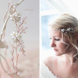 Victoria Diadem Tiara Hochzeit Perlen Rosegold-15